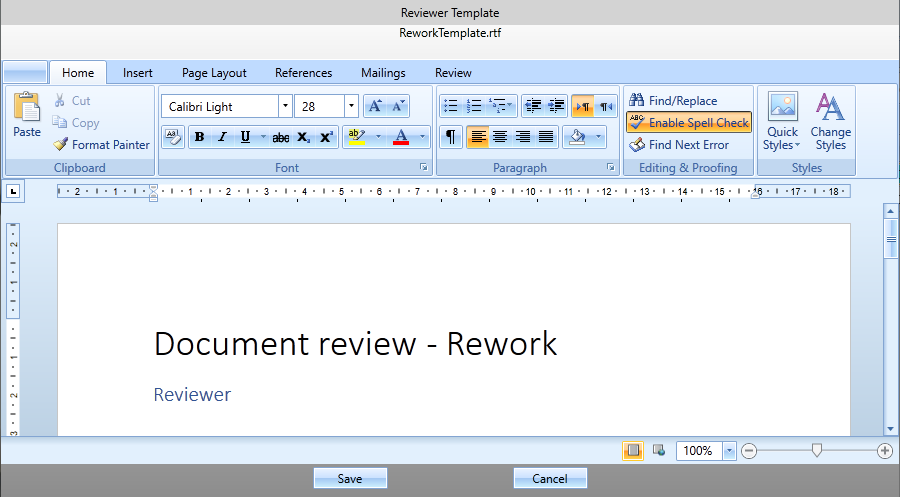 notusCSDB for S1000D reviewer comments wysiwyg editor